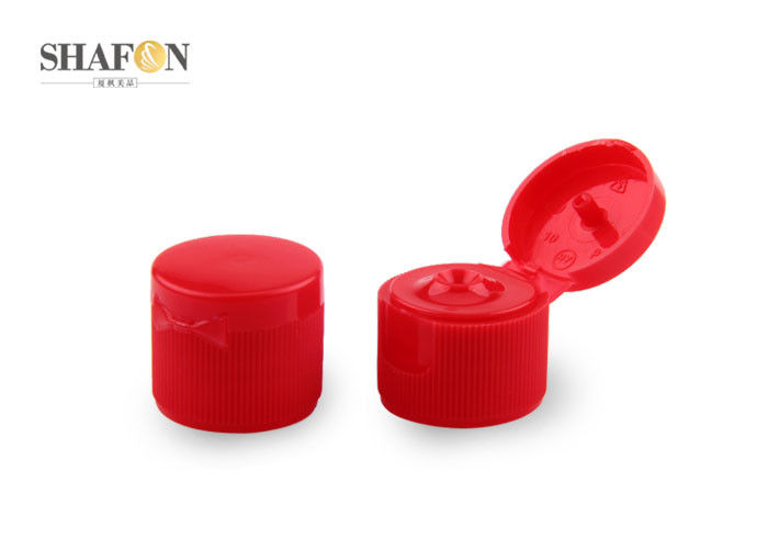 Red Plastic Cosmetic Bottle Caps Multi Color For Household Hot Stamping