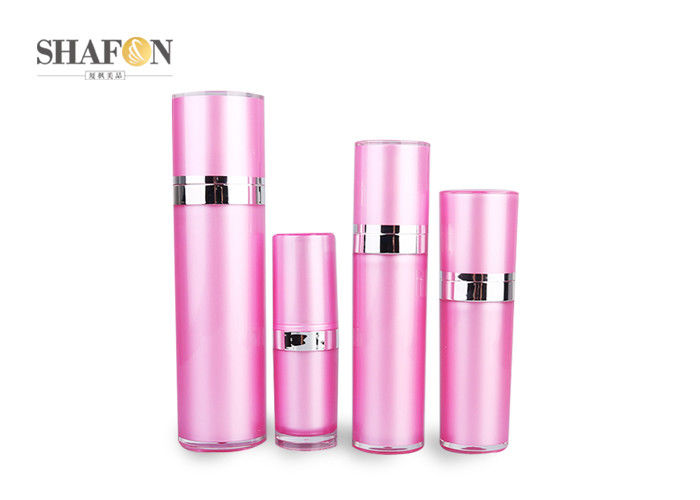 Empty Pink Acrylic Perfume Bottles PMMA Cover Various Capacity Custom Design