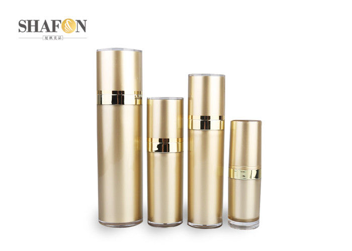 Cylinder Acrylic Cosmetic Bottle , Decorative Flat Acrylic Dispenser Bottles