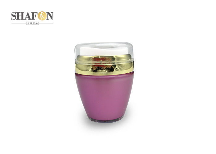 Eye Cream Empty Cosmetic Jars Packaging With AS Lids Irregular Shape