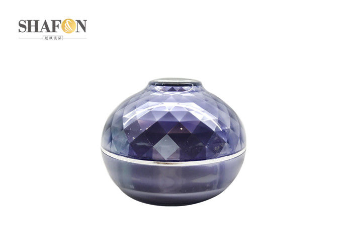 PMMA Material Empty Cosmetic Jars Ball Shape Diamond Surface Custom Logo Printing