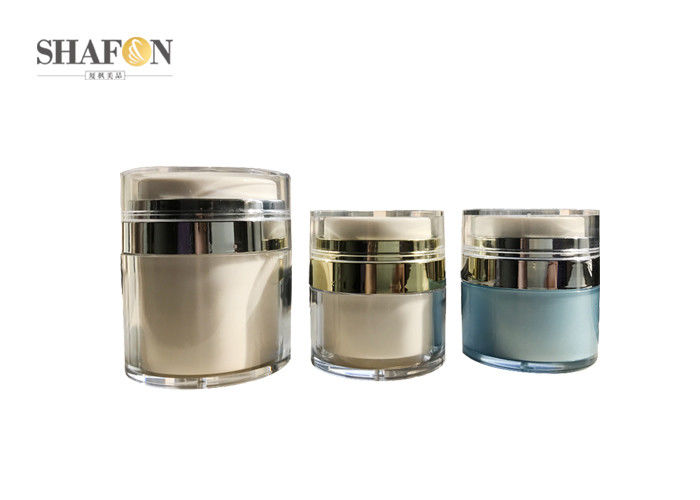 Airless Type Cream Cosmetic Jar Transparent Cover 15g Customized Design