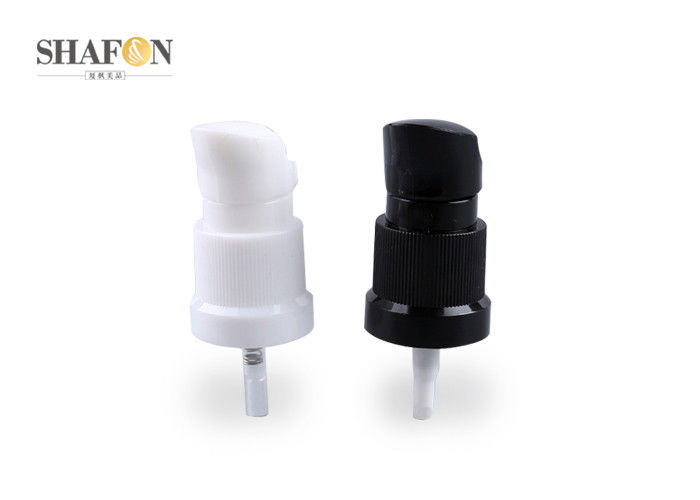 Black and white customized color PP material cream pump for lotion bottle